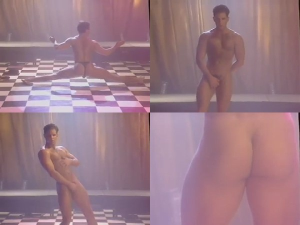 young man dancing naked