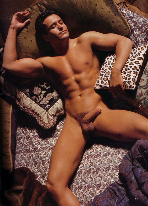hot naked man in bed