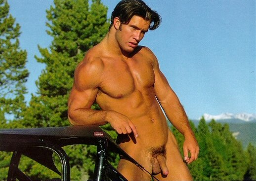 charming muscle man
