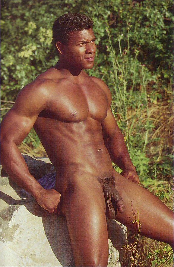 black man big low-hanging balls