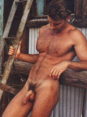 hairy muscled chest man