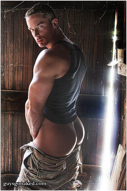 Beautiful man smooth butt