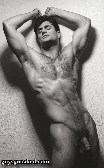 Hairy chest man naked