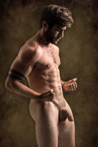 Handsome guy nude