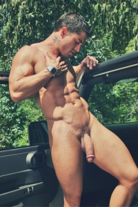 Handsome muscle hunk big soft cock