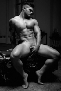 Muscle male model naked
