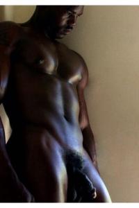 Sexy black man naked