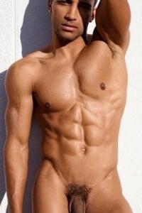 Sexy latin muscle man naked