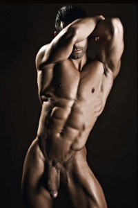 Sexy naked muscle hunk gay erotica