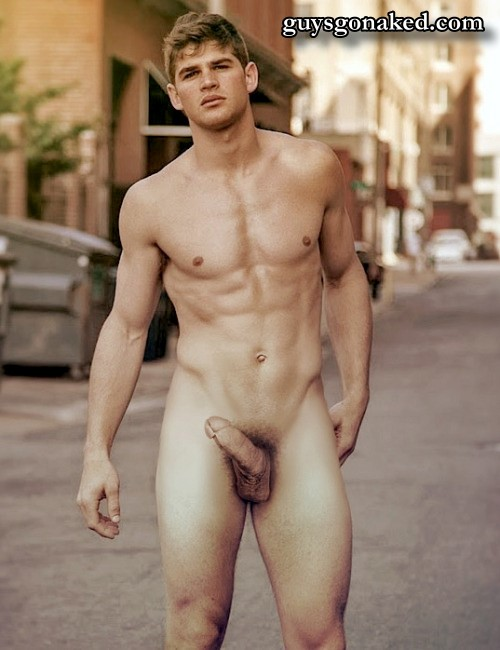 Stunning fashion male model naked